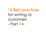 10 Best practices for writing to customers - Part 1