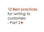 10 Best practices for writing to customers - Part 2