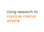 Using research to improve internal email