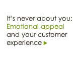 It's never about you: Emotional appeal & customer experience