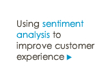 Using sentiment analysis to improve customer experience