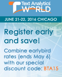 TAW: Register early and save - earlybird rates and discount code BTA15