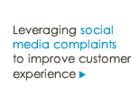 Leveraging social media complaints to improve customer experience