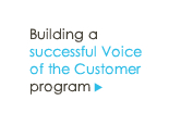 VOC 1-2-3 :: Strategies for a successful Voice of the Customer program