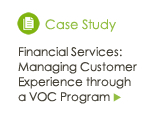 Financial Services: Managing Customer Experience through a VOC Program