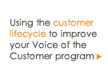 Using the customer lifecycle to improve your Voice of the Customer program