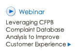 Webinar: Leveraging CFPB Complaint Database Analysis to Improve Customer Experience